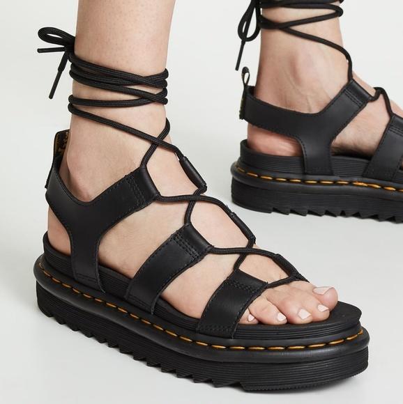 dr martens lace up sandals